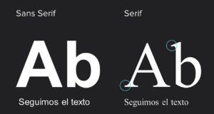 tipografias serif y sans serif